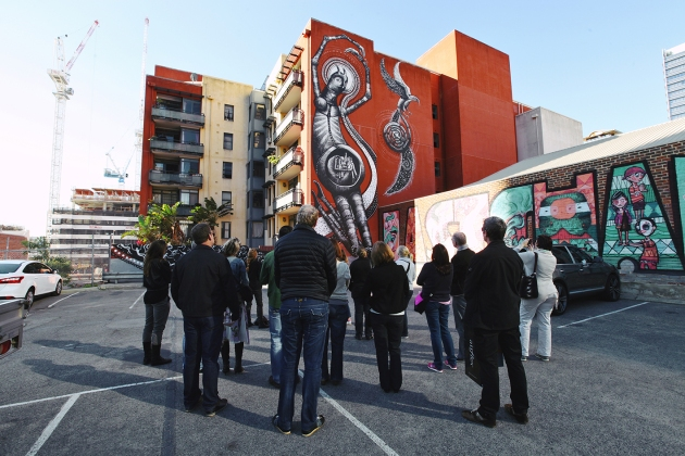 PUBLIC Urban Art Walks. Photography: Matt Biocich