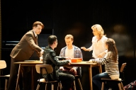 057 Brendan Hanson, James Bell, Joel Horwood, Rachael Beck, Shannen Alyce. Next to Normal. Image by Gary Marsh